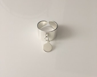 Silver brass Locket ring