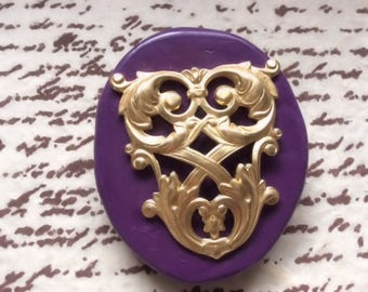 French crest Lattice silicone rubber mold