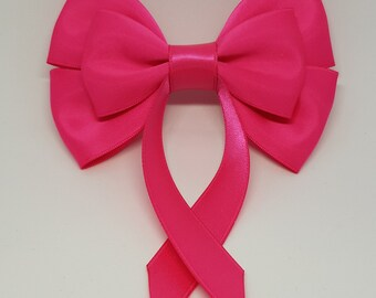 Fushia Pink Swallow Tail Hair Bow