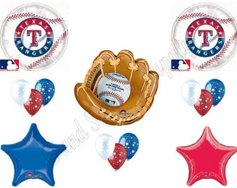 TEXAS RANGERS BASEBALL Birthday Party Balloons Decoration Supplies Game Glove