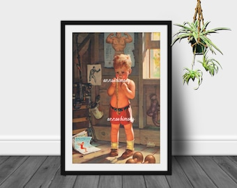 Little Boy's Room Art Print, Boy's Nursery Print, Family Room Wall Art, Home Decor, I'm Gonna Be a Fighter #622