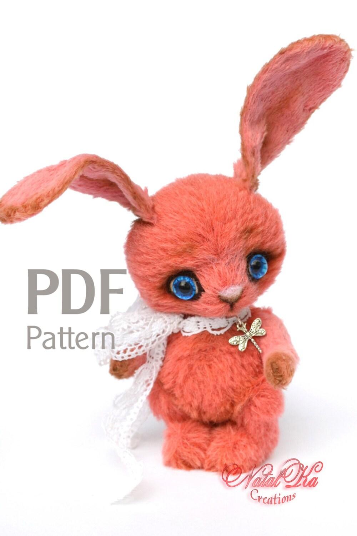 PDF Schnittmuster Hase Pinky 12 cm Kaninchen Künstlerteddy