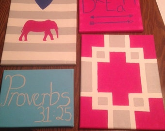 Assorted Canvas Paintings