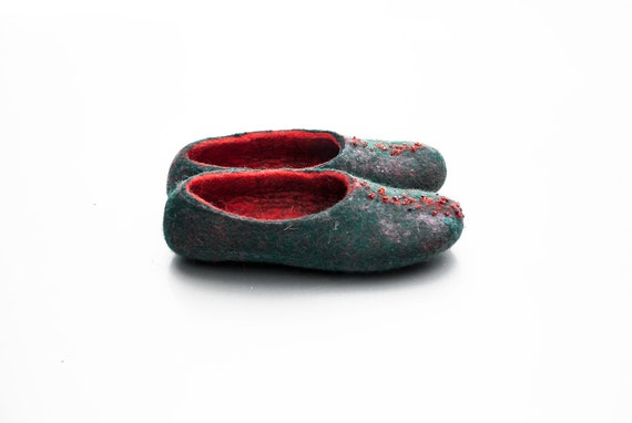 slippers set Christmas slipper pairs slippers daughter Felted Mother 2 wool Valenki shoes warm wool warm and shoes house slippers wool RYcqE
