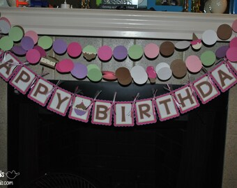 """Ice Cream 'Here's the Scoop' """"Happy Birthday"""" Banner"""