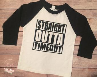 Straight Outta Timeout, Timeout T-Shirt, Funny Kid Shirt