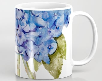 Cape Cod Hydrangea mugs, 11 oz and 15 oz