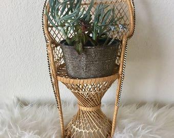 Vintage Rattan Doll/Plant Chair