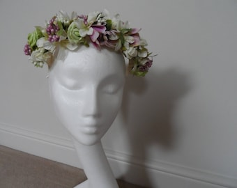 Floral Crown and wicker heart, bridesmaid, flower girl, wedding