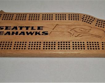 Seahawks cribbage board
