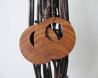 Cherry wood earrings / Wooden earrings / handmade jewelry / gift for her / birthday gift