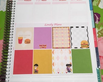 Planner Stickers: Fast food fun full boxes