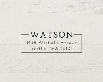 Return Address Stamp, Self Inking Address Stamp, Modern Stamp, Custom Stamp, Personalized Stamp, Wedding Stamp, Family Stamp - Style #74