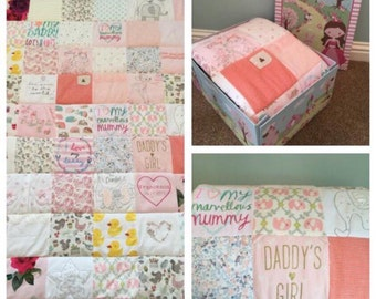 Handmade Keepsake Memory Quilts Mini Cot Single Sizes All Available