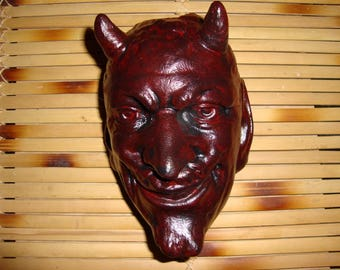 Chalkware  Devil Candle Holder