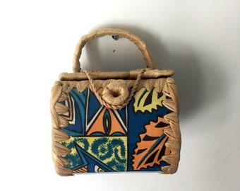 Mini Acrylic Woven Basket Bag