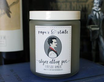 Edgar Allan Poe 8 oz Handcrafted Soy Candle