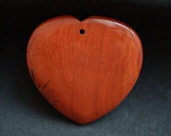 Jasper Brown heart PENDANT