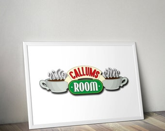 Friends Central Perk Inspired Personalised Room or Home Print