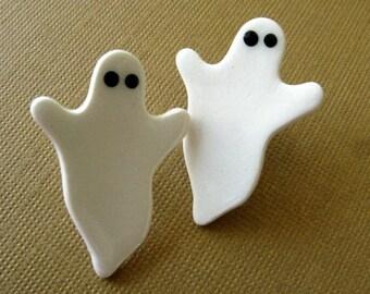 Ghost Porcelain Halloween Earrings Handmade Porcelain Jewelry