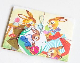 C6 Envelopes Easter, Envelopes paper recycling, Easter envelopes, Easter Envelops, Easter nostalgia, envelopes hand-folded, Easter, Easter envelopes