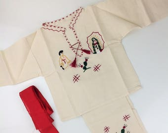 Juan Diego Mexican Outfit Handmade Baby Toddler Boys Manta Muslin Different Sizes San Juan Diego Traditional Outfit Our Lady of Guadalupe