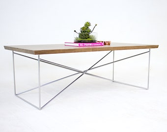 Coffee Table, Minimalist Modern Table, Midcentury Modern, The Miami: Solid Walnut