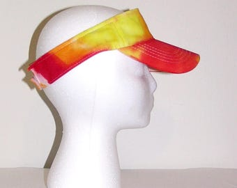 Tie Dye Visor Women's Cotton