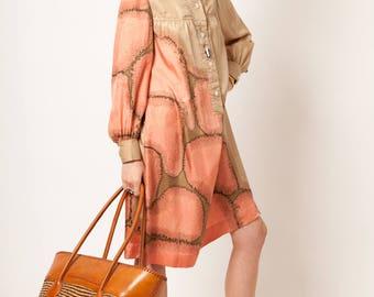 Dress Blouse Silk Vintage 70 Luxe Designer Murasan Robin N.Y.
