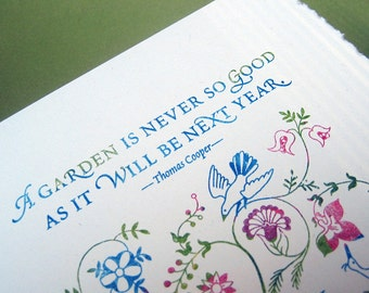 Good Garden Note Cards, set of four