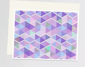 Purple geometric print Greeting Card