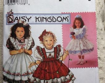 Simplicity 9946 Daisy Kingdom Child's Dress and Pinafore Size AA (2-4)
