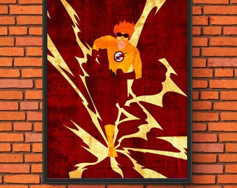 Minimalism Art - Kid Flash Print