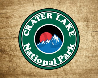 "Crater Lake Sticker Decal National Park 3.5"" x 3.5"""