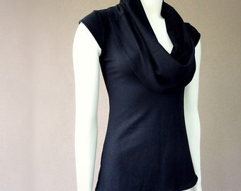 Cowl top shawl neckline