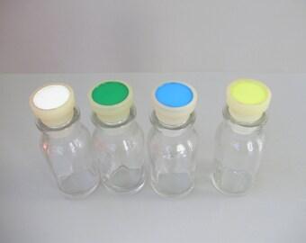 4 pieces Vintage,Japanese medicine bottle ,medical /pharmacist glass bottle
