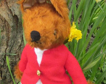 Gentleman Jim Fox Stuffed Plush Toy Fox Toy for Toddlers Gift for Dad Mums Day Gift  Gift for Granny Childhood Memories Collectable Toy Fox