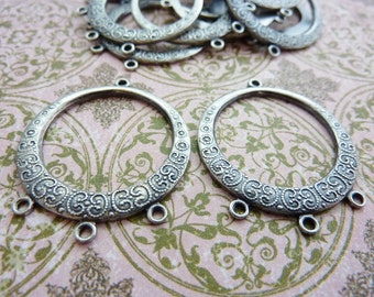 Earring Chandelier Finding Vintage Silver Chandelier Stamping (2)