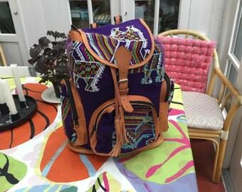 Handmade HUIPILES backpack from Guatemala