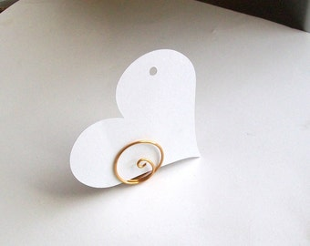 Small Placecard Holder - Bronze Wire - Place Card Swirl (set of 10)