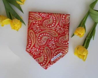 Golden- pet bandana, dog bandana, dog neckwear, cat neckwear, pet bandana, tie on bandana
