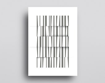 Minimal Abstract Art, Mid Century Art, Geometric Print, Neutral, Giclee Print, Scandinavian Print, Abstract Geometry, Modern Wall Art