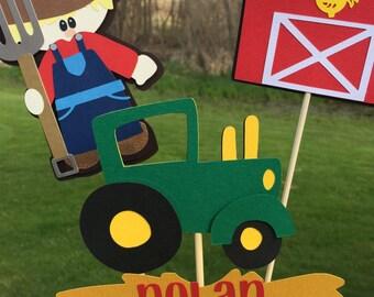 Tractor Farm Barnyard Table Decoration John Deere Inspired Birthday Party Tractor Birthday Banner