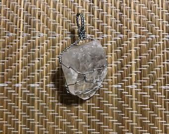 Raw Quartz Crystal Pendant