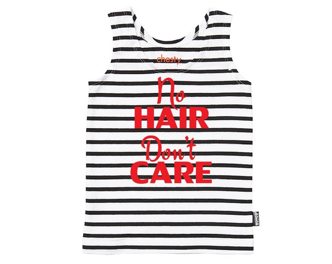 No Hair Don't Care Funny Baby Singlet