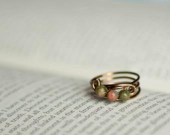 Brass Beaded Ring