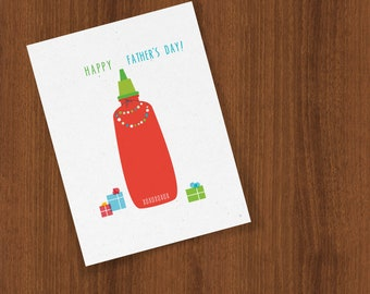 Happy Father's Day Card for Your Favorite Hot Sauce Loving Poppa Folded Cards