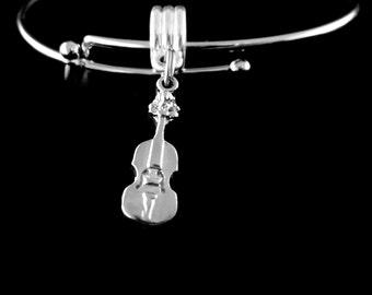 violin Charm bracelet Violin Bracelet Symphony bracelet Strings Bracelet