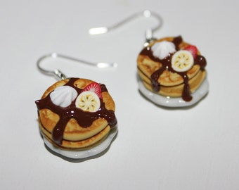 Pancake earrings -  Food earrings - Kawaii earrings