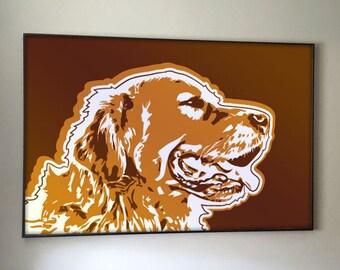 Golden Retriever - Dog - Art Print